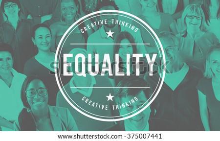 Equality Fair Parity Respect Balance Equal Fairness Concept - stock photo