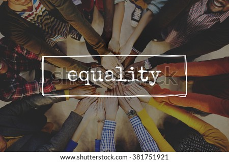 Equality Fairness Equal Justice Rights Concept - stock photo