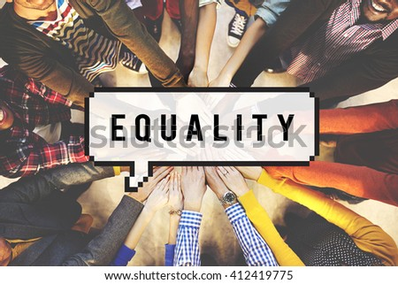 Equality Friends Team Community Fair Concept - stock photo
