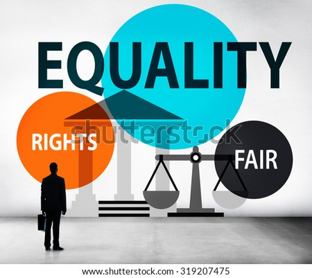 Equality Parity Balance Justice Fair Concept - stock photo