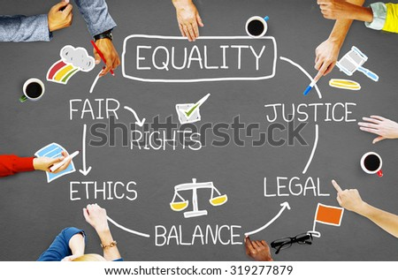 Equality Rights Balance Fair Justice Ethics Concept - stock photo