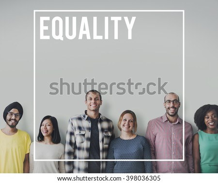 Equality Rights Equal Justice Reliability Concept - stock photo
