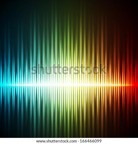 Equalizer background. Music wave. Raster version - stock photo