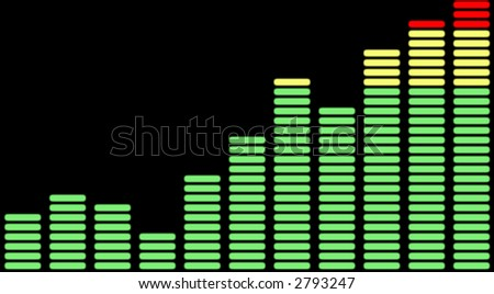Equalizer chart - stock photo