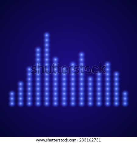 Equalizer on dark blue background - stock photo
