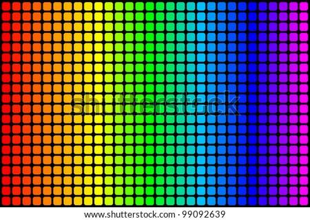 Equalizer over black background - stock photo