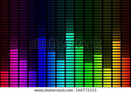 Equalizer rainbow Signal - stock photo