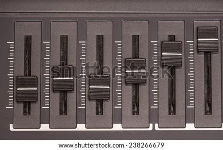 Equalizer sliders. - stock photo