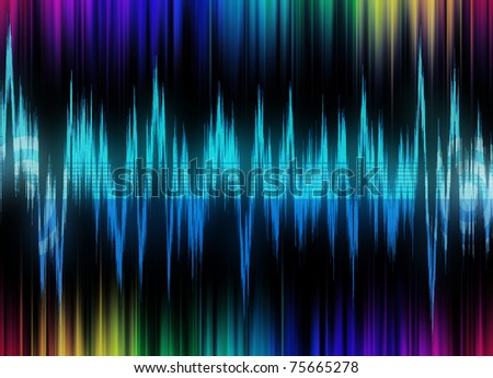 equalizer sound background theme; blue wallpaper