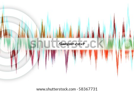 equalizer sound background theme for flayer design - stock photo
