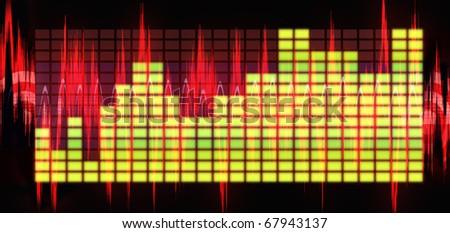 equalizer sound background theme; sound wallpaper - stock photo