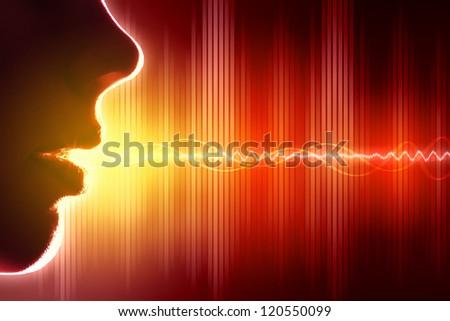 Equalizer sound wave background theme. Colour illustration. - stock photo