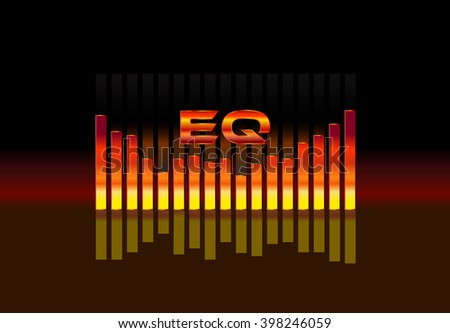 equalizer sound wave illustration  - stock photo