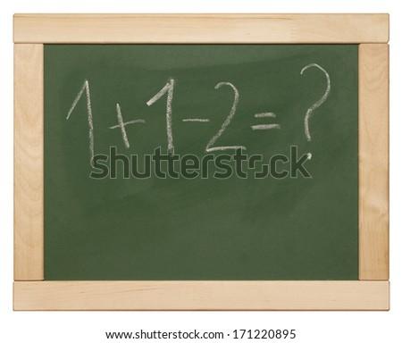 equation on blackboard - stock photo