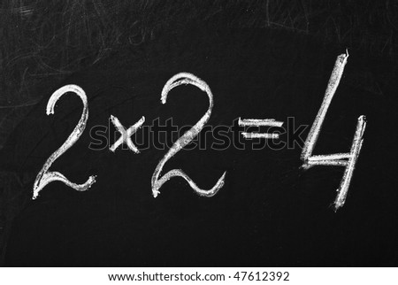 Equation on the blackboard - stock photo