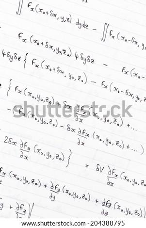 Equations - stock photo