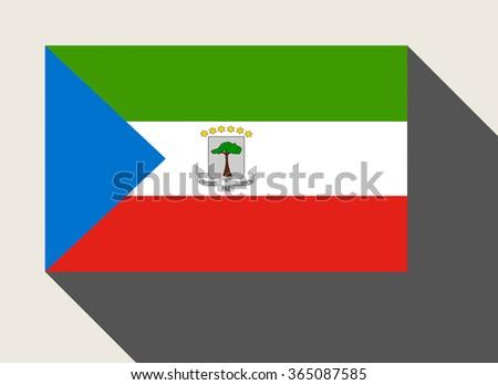 Equatorial Guinea flag n flat web design style. - stock photo