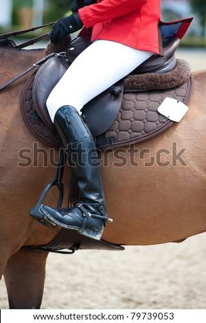 Equestrian Riding Attire - stock photo