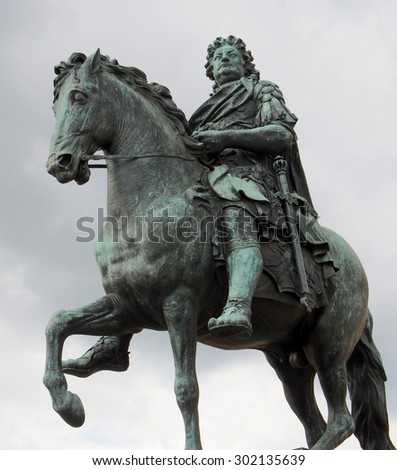 Equestrian Statue of Frederick The Great - Berlin, Germany - stock photo