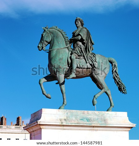 Equestrian statue of Louis XIV, Place Bellecour in Lyon, France