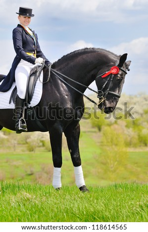Equestrianism: Dressage - stock photo