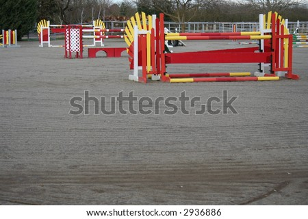equine event hurdles - stock photo