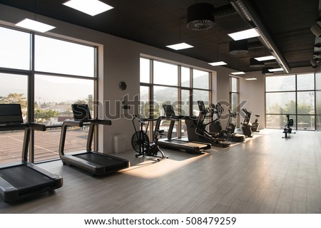 Gymnasium stock images royalty free vectors