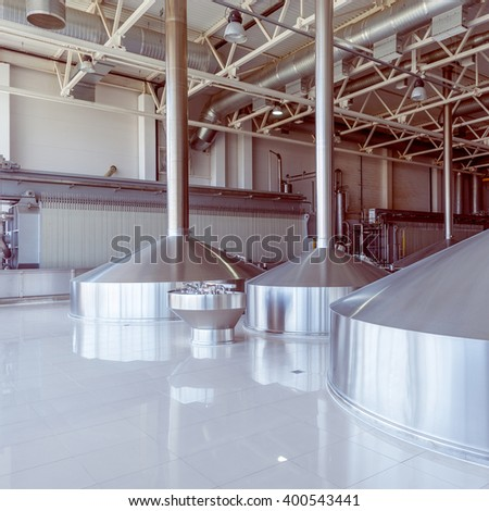 Equipment for brewing beer on the plant territory.