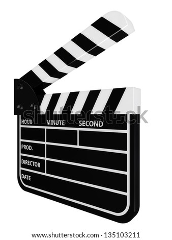 equipment for cinematographing - a cracker - stock photo