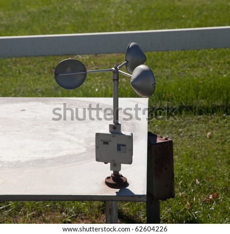 Equipment for measuring wind speed - stock photo