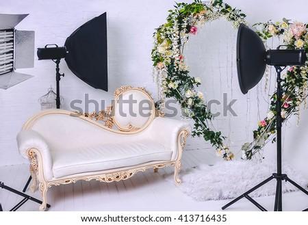 Equipment for photo studio - stock photo