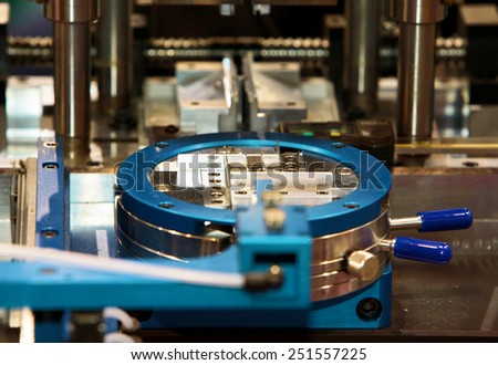 equipment for the chip lead forming - stock photo