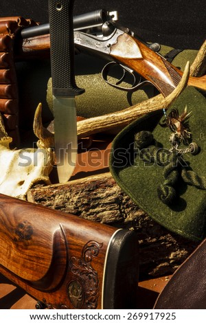 Equipment hunting - stock photo