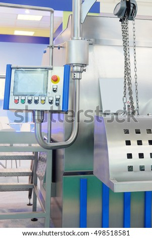 Equipment of a food factory