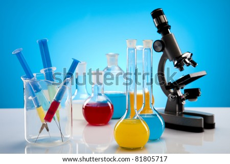 Equipment of a research laboratory - stock photo