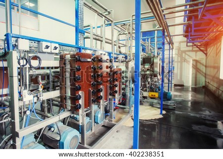 Equipment of the technology for making starch, cleaning and processing at the plant.
