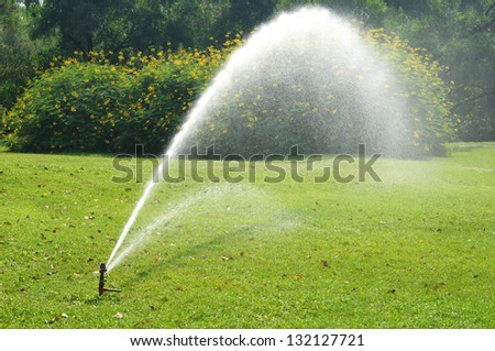 equipment of water in park