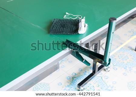 Equipment sport for tennis table, net  - stock photo