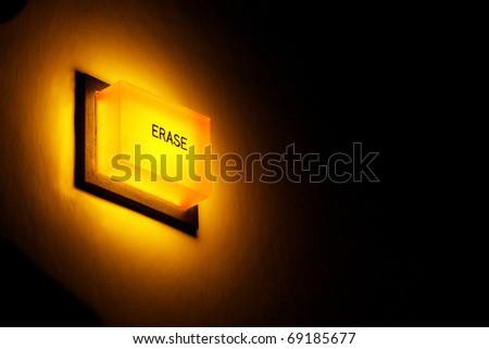 Erase button - stock photo