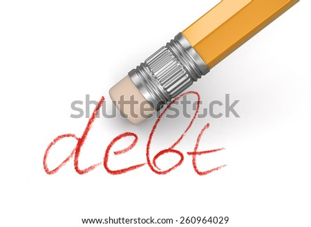 Erase Debt (clipping path included)