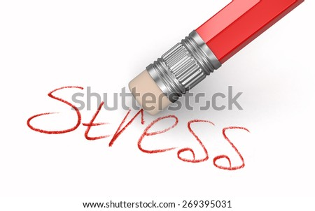 Erase Stress (clipping path included) - stock photo