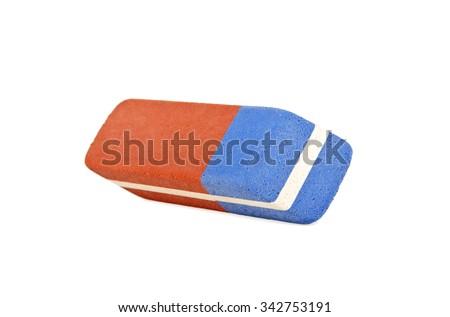 Eraser isolated on a white background - stock photo