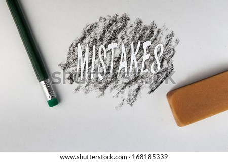 Erasers Are For Mistakes - stock photo
