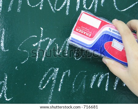 Erasing lesson - stock photo