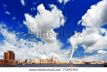 Erasmus bridge Rotterdam - stock photo