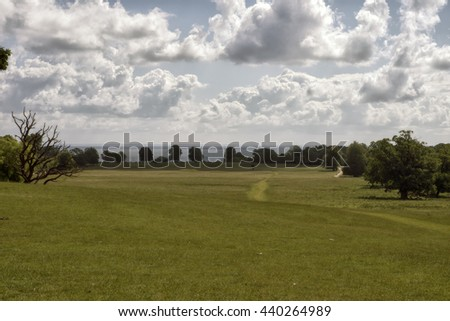 Eremitagesletten is an area in the north of the park - View from The Hermitage to Oresund. Copenhagen, Denmark - stock photo