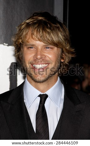 Eric Christian Olsen at the Los Angeles premiere of 'The Thing' held at the AMC Universal City Walk in Universal City on October 10, 2011.  - stock photo