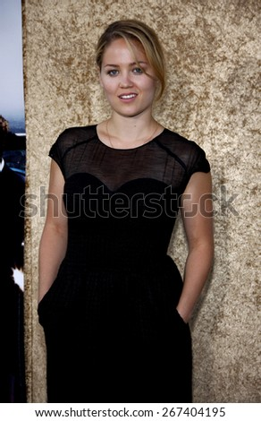 Erika Christensen at the HBO's 'Entourage' Season 7 Premiere held at the Paramount Studios lot in Hollywood on June 16, 2010.