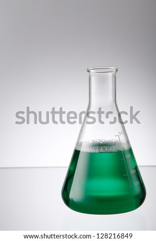 erlenmeyer flask full of liquid