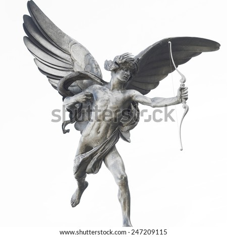 Eros statue in Piccadilly Circus, London, UK - stock photo